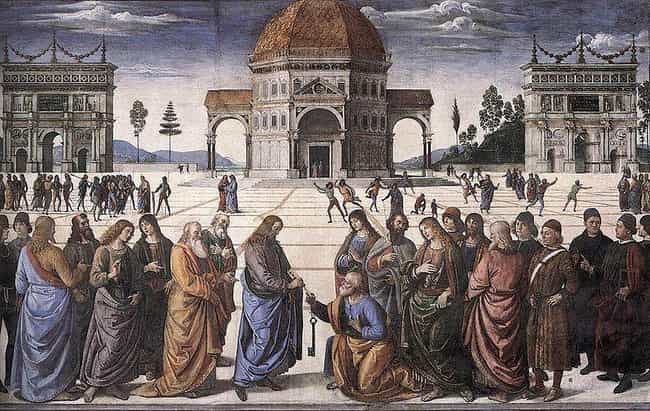 The Delivery of the Keys to Sa... is listed (or ranked) 3 on the list Famous Saint Peter Art