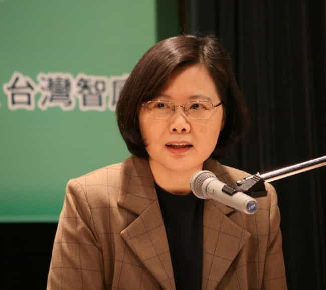 Tsai Ing-wen is listed (or ranked) 4 on the list Female Presidents Currently in Office