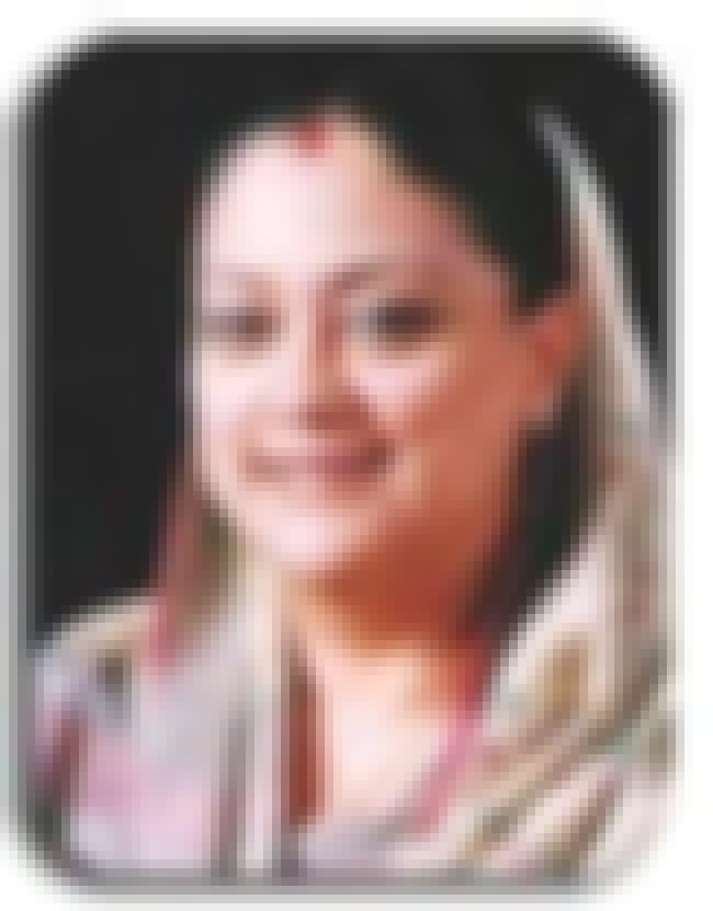 Vasundhara Raje is listed (or ranked) 1 on the list Famous Sophia College, Mumbai Alumni