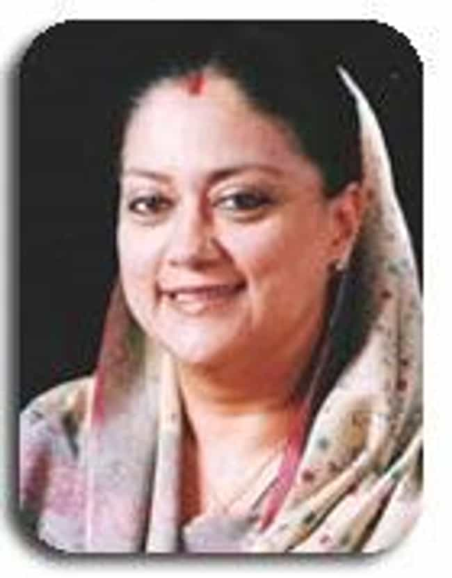 Vasundhara Raje is listed (or ranked) 1 on the list Members of the Scindia Family