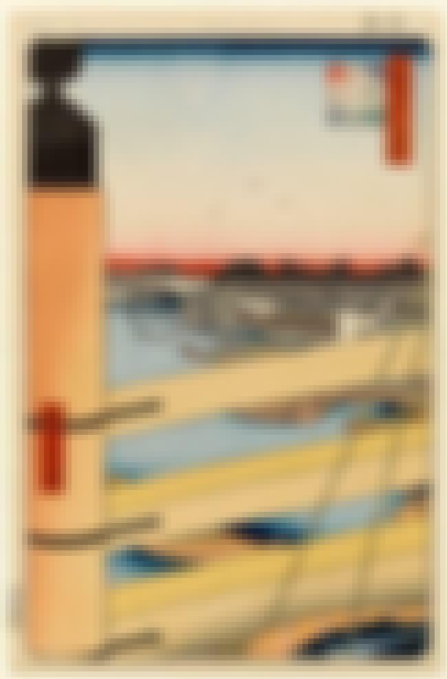 Nihon Bridge and Edo Bridge is listed (or ranked) 3 on the list List of Famous Hiroshige Artwork