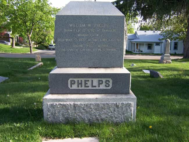 William W. Phelps is listed (or ranked) 4 on the list Famous People Buried in Salt Lake City Cemetery