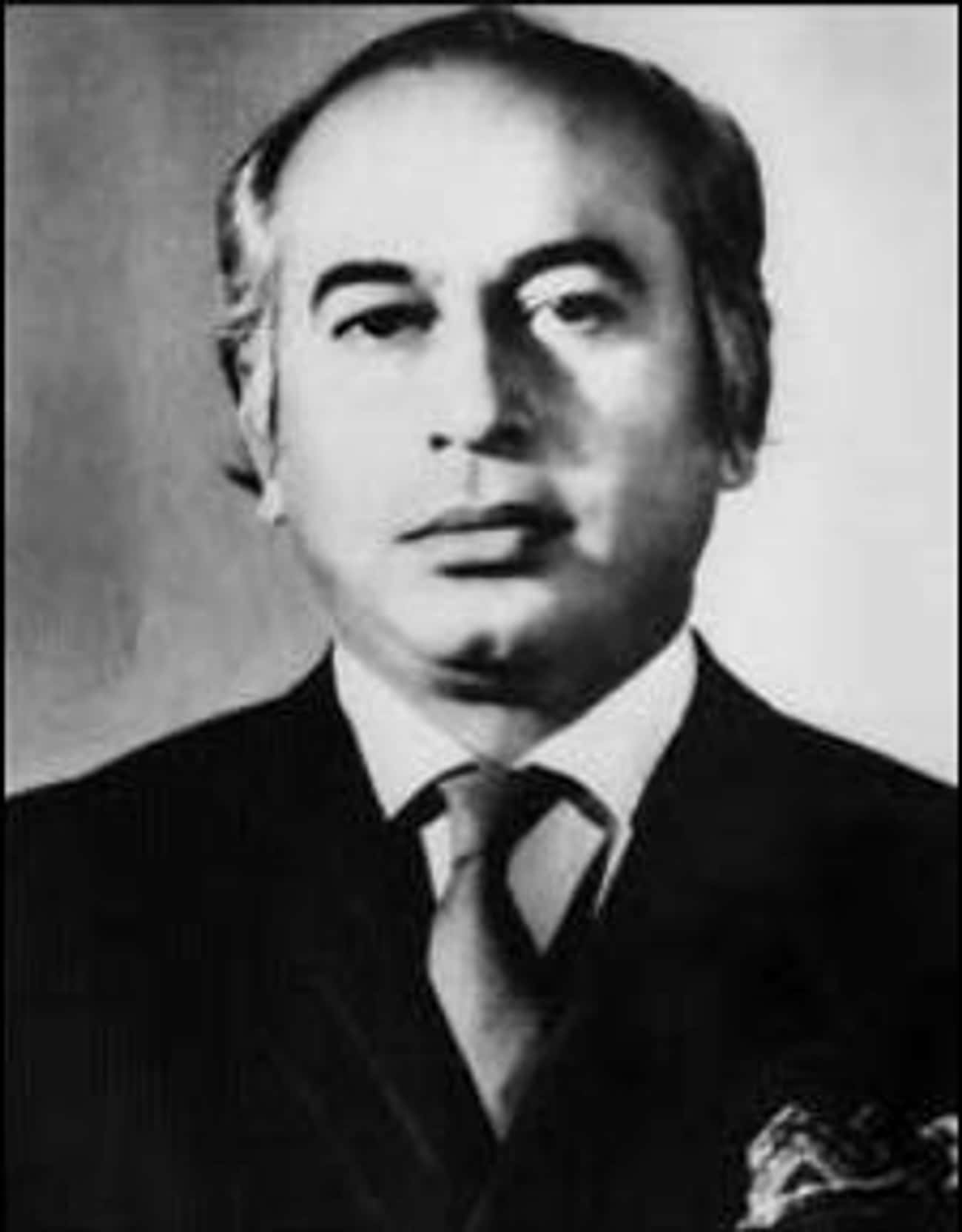 Zulfikar Ali Bhutto is listed (or ranked) 2 on the list Members of the Bhutto Family