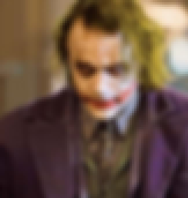 Joker is listed (or ranked) 1 on the list The Best Movie Villains of All Time