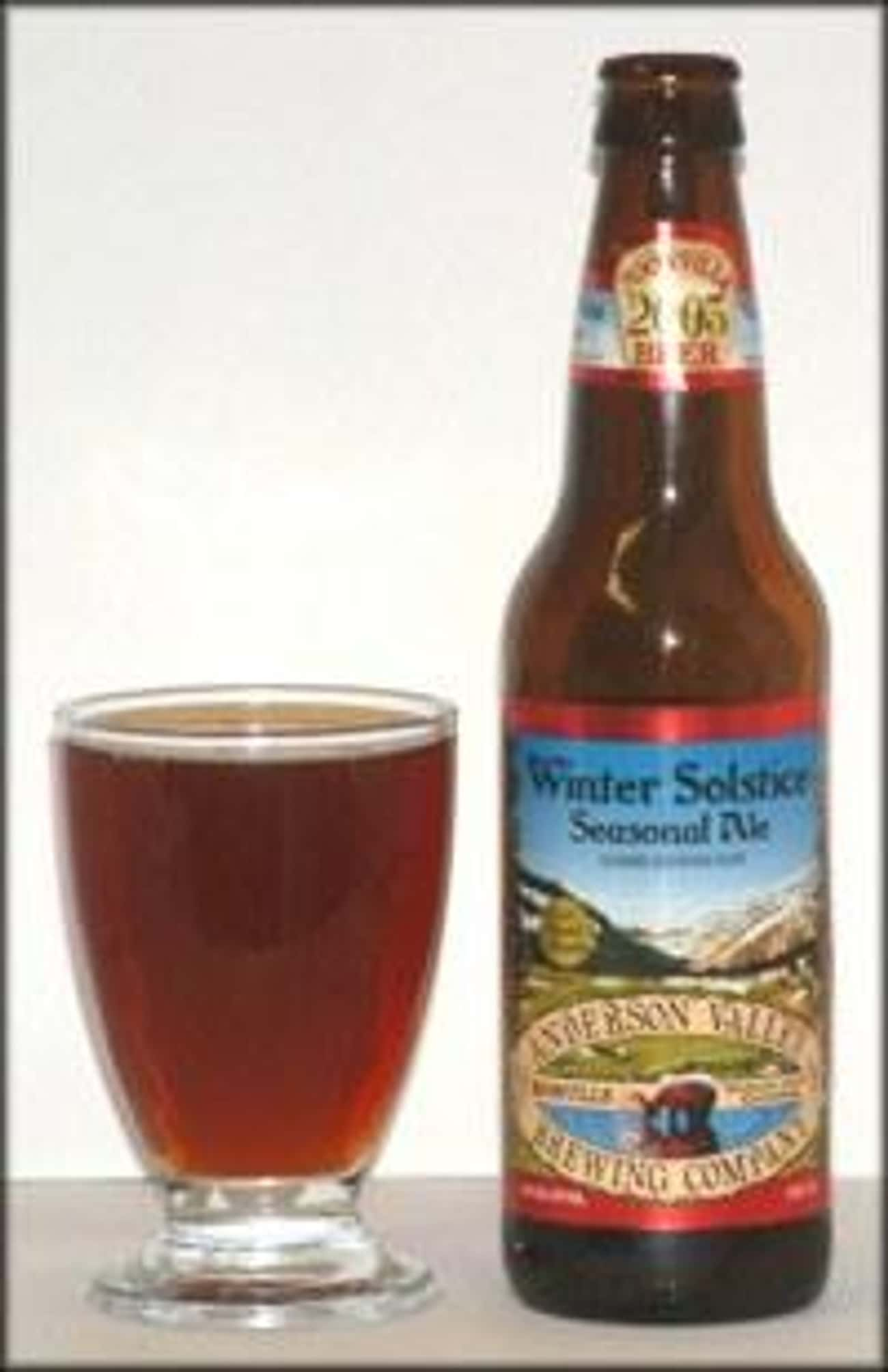 Anderson Valley Winter Solstic is listed (or ranked) 1 on the list Beers with 6.9 Percent Alcohol Content