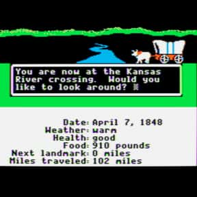 The Oregon Trail is listed (or ranked) 19 on the list The Most Addictive Video Games of All Time