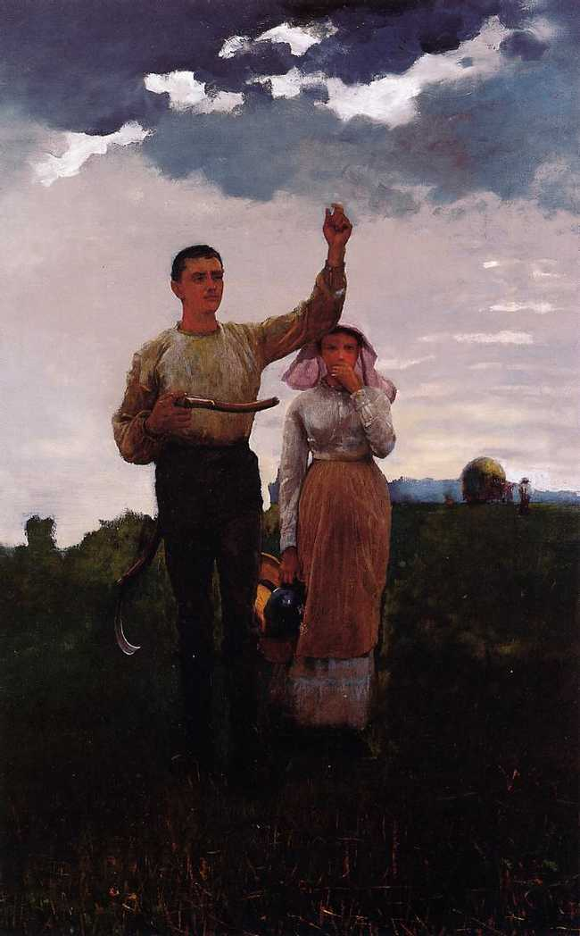 Answering the Horn is listed (or ranked) 1 on the list Famous Winslow Homer Paintings