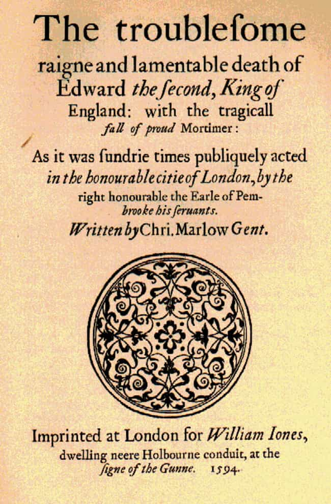 Edward II is listed (or ranked) 3 on the list Christopher Marlowe Plays List