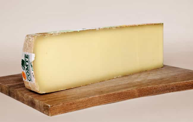 Comté cheese is listed (or ranked) 1 on the list The Best Cheeses of France