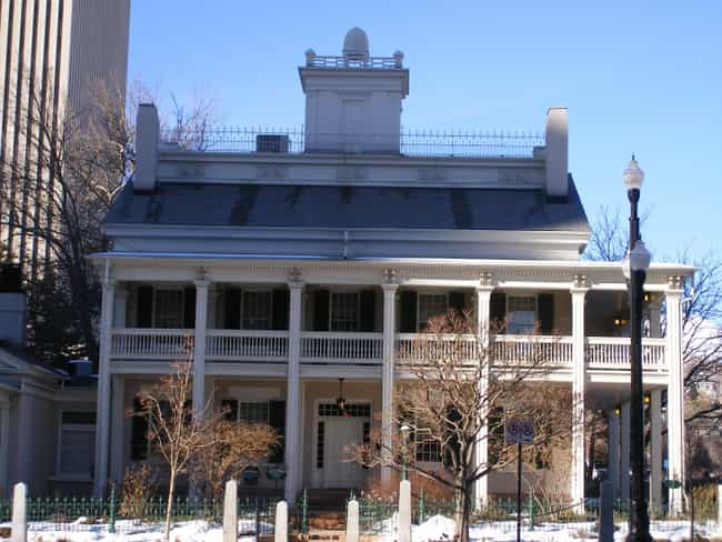 Beehive House is listed (or ranked) 3 on the list List of Famous Salt Lake City Buildings & Structures