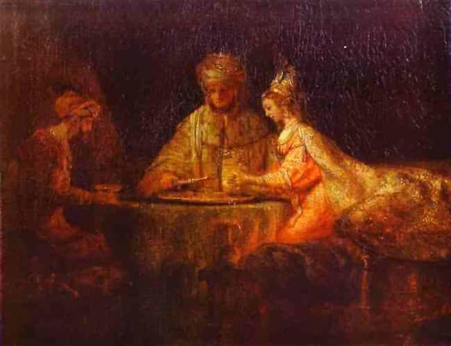 Ahasuerus and Haman at the Fea... is listed (or ranked) 1 on the list Famous Rembrandt Paintings