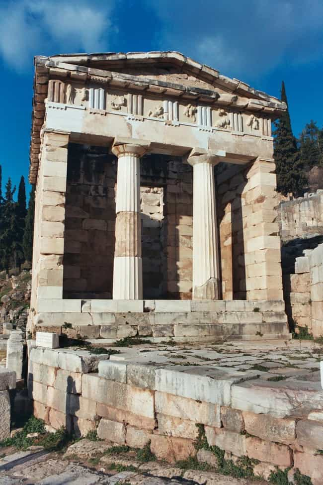 Athenian Treasury is listed (or ranked) 2 on the list Famous Doric order buildings