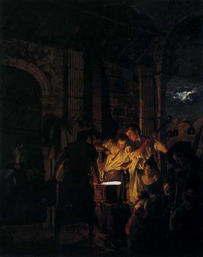 A Blacksmith's Shop is listed (or ranked) 4 on the list List of Famous Genre Paintings