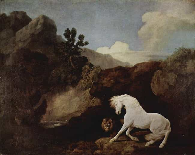 A Horse Frightened by a ... is listed (or ranked) 1 on the list Famous George Stubbs Paintings