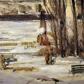 A Morning Snow - Hudson River