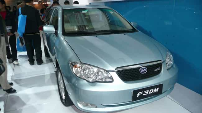 BYD F3DM is listed (or ranked) 1 on the list Full List of BYD Models