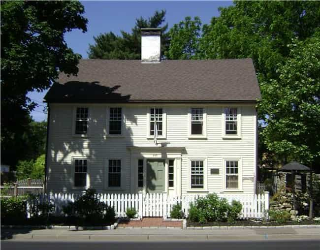 Caleb Gorton House is listed (or ranked) 2 on the list List of Famous Warwick Buildings & Structures