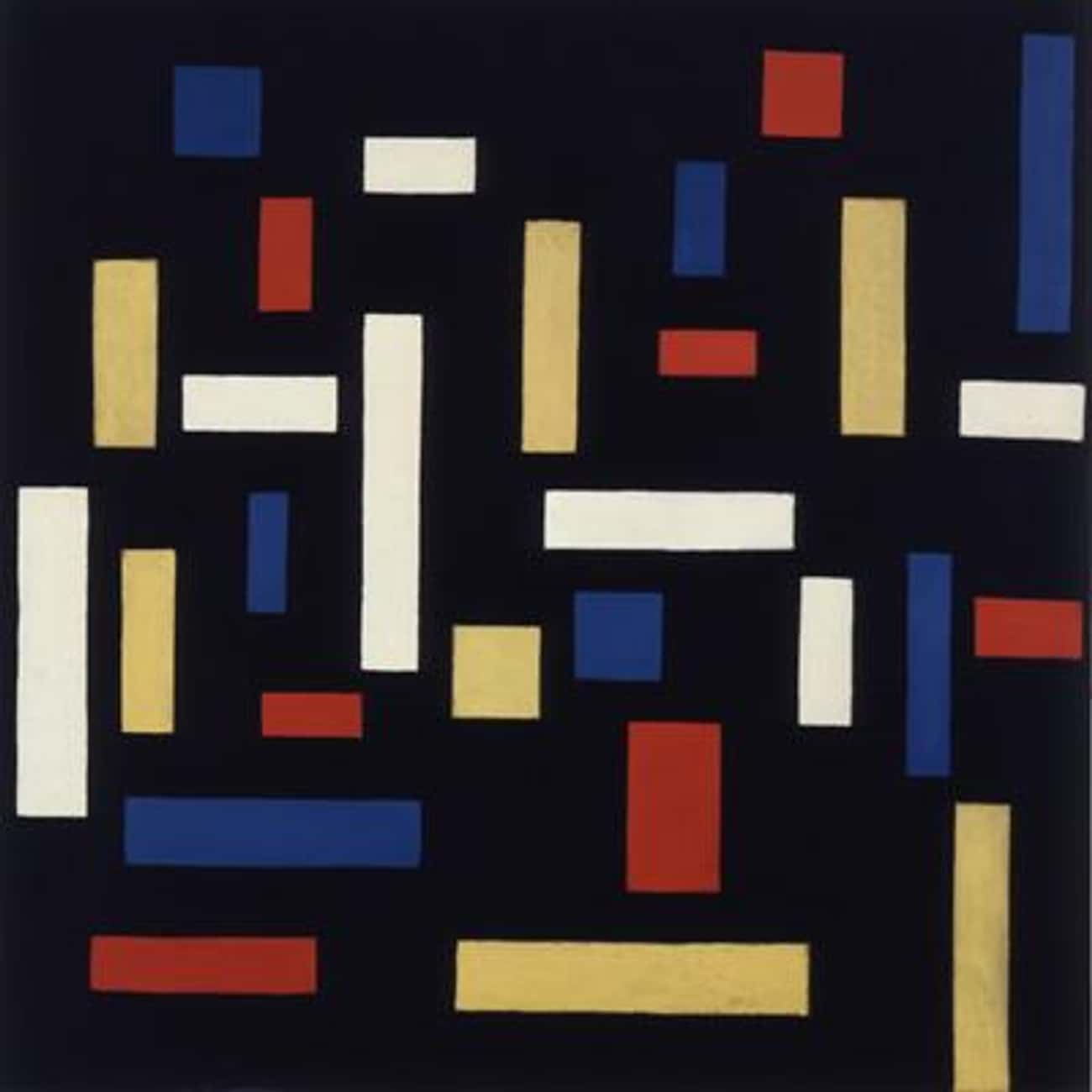 Composition VII (The Three Gra is listed (or ranked) 3 on the list Famous Abstract Arts by Theo Van Doesburg