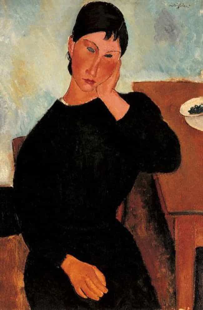 Elvira Resting at a Table is listed (or ranked) 4 on the list Famous Amedeo Modigliani Paintings