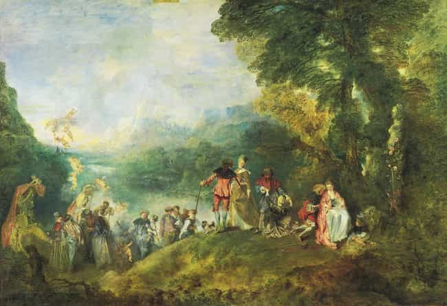 The Embarkation for Cythera is listed (or ranked) 1 on the list Famous Rococo Paintings