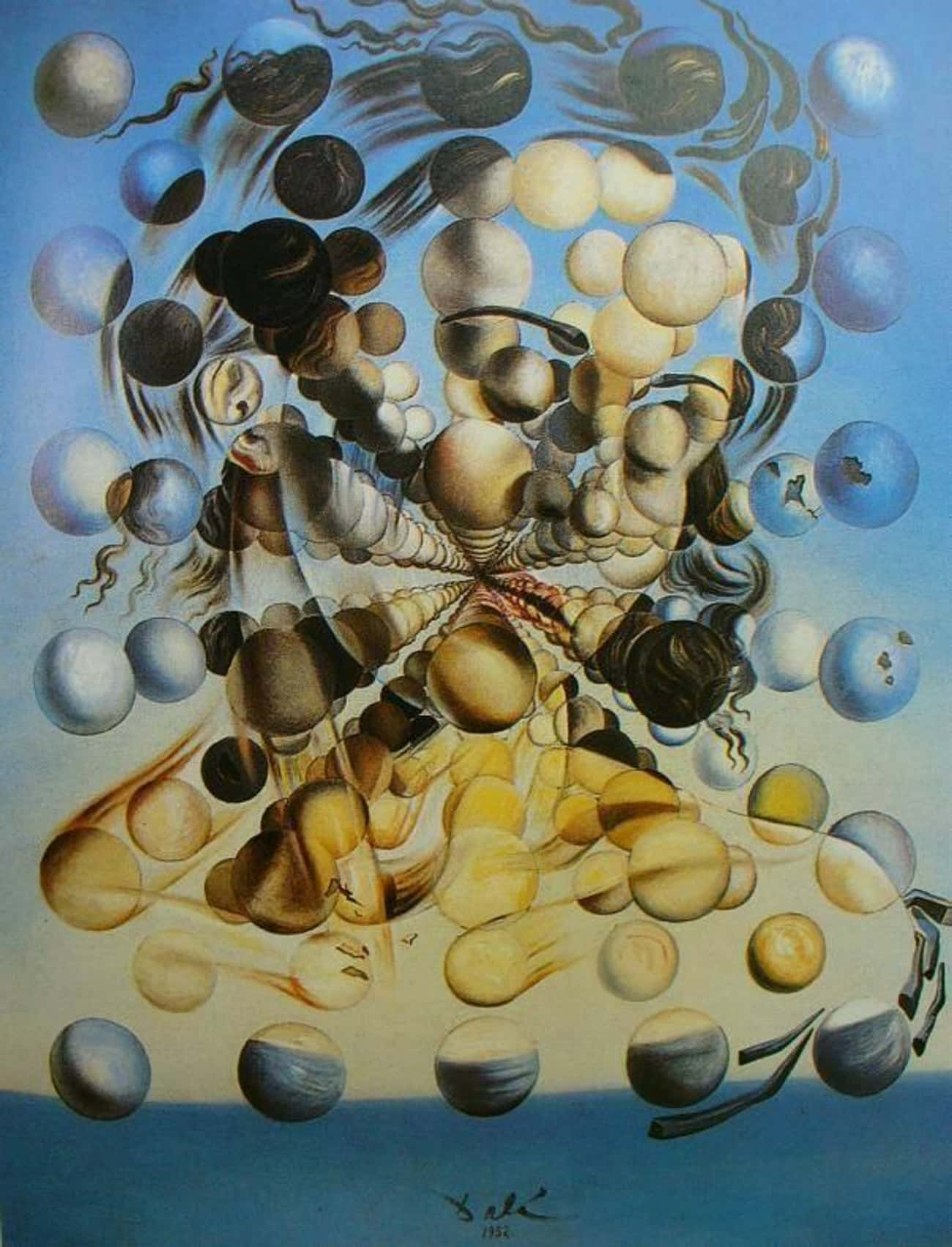 Galatea of the Spheres is listed (or ranked) 2 on the list Salvador Dalí's Greatest Works Of Art