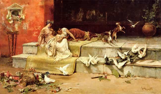 Las Damas Romanas is listed (or ranked) 3 on the list Famous Juan Luna Paintings