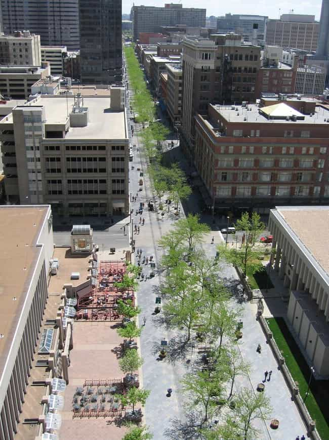 16th Street Mall is listed (or ranked) 1 on the list List of I. M. Pei Architecture