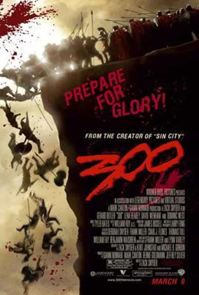 300 is listed (or ranked) 4 on the list The Best Superhero Movie Posters