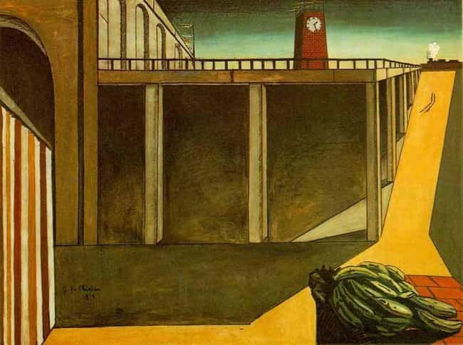 Gare Montparnasse (The M... is listed (or ranked) 2 on the list Famous Giorgio de Chirico Paintings