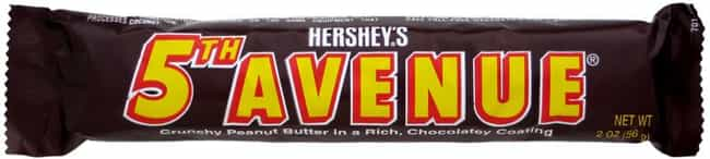 5th Avenue is listed (or ranked) 3 on the list Popular Candy Sold in United States Of America
