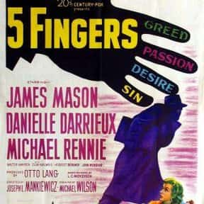 5 Fingers is listed (or ranked) 6 on the list The Best '50s Spy Movies