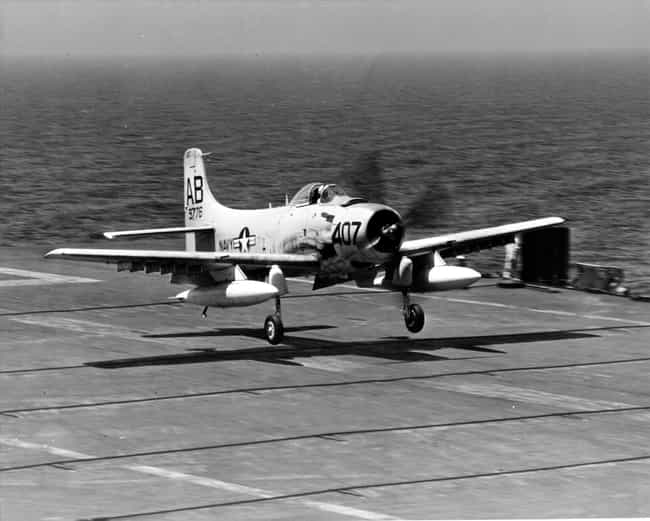 Douglas A-1 Skyraider is listed (or ranked) 2 on the list Planes Used By United States Air Force