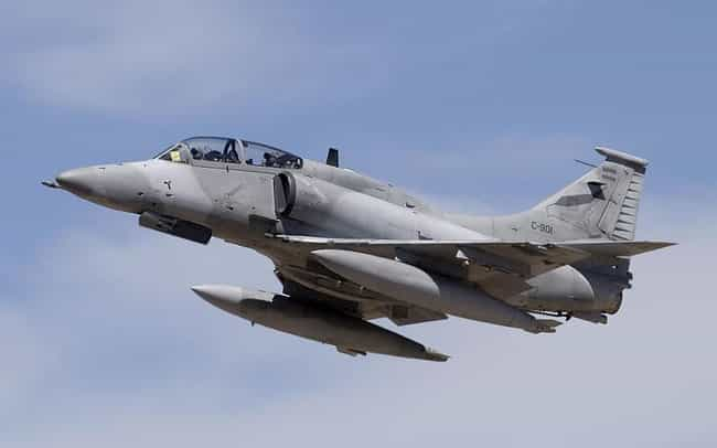 Lockheed Martin A-4AR Fighting... is listed (or ranked) 1 on the list Planes Used By Argentine Air Force