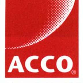 ACCO Brands is listed (or ranked) 9 on the list List of Manufacturing Companies