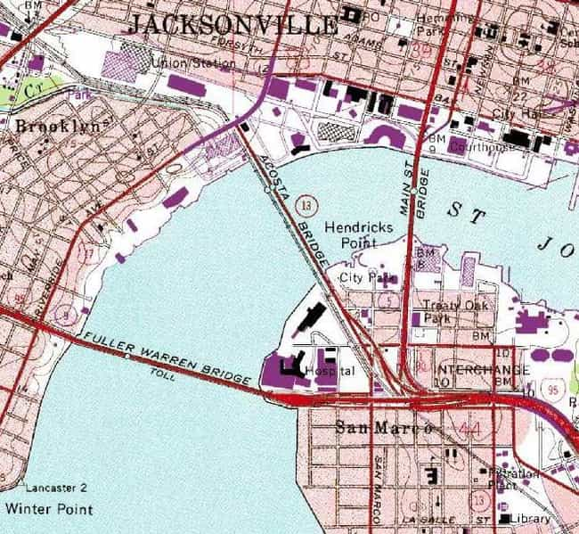 Acosta Bridge is listed (or ranked) 2 on the list Bridges in Florida