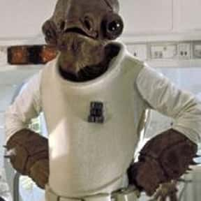 Admiral Ackbar is listed (or ranked) 19 on the list List of Star Wars Episode VI: Return Of The Jedi Characters