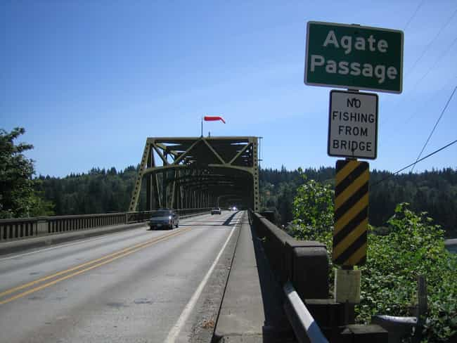 Agate Pass Bridge is listed (or ranked) 2 on the list Bridges in Washington
