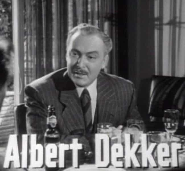 Albert Dekker is listed (or ranked) 1 on the list 8 Celebrities Found Dead In A Bathroom