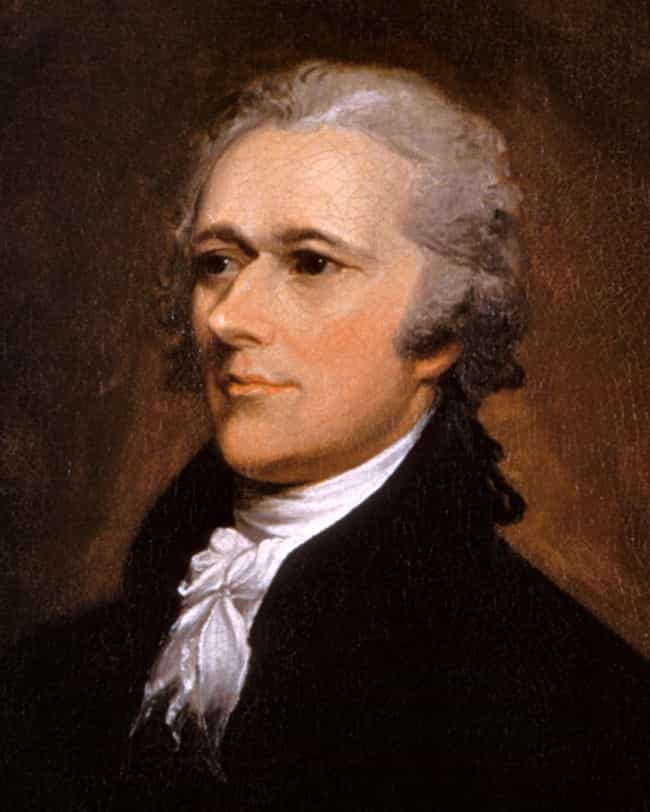 Alexander Hamilton is listed (or ranked) 2 on the list United States Cabinet Members