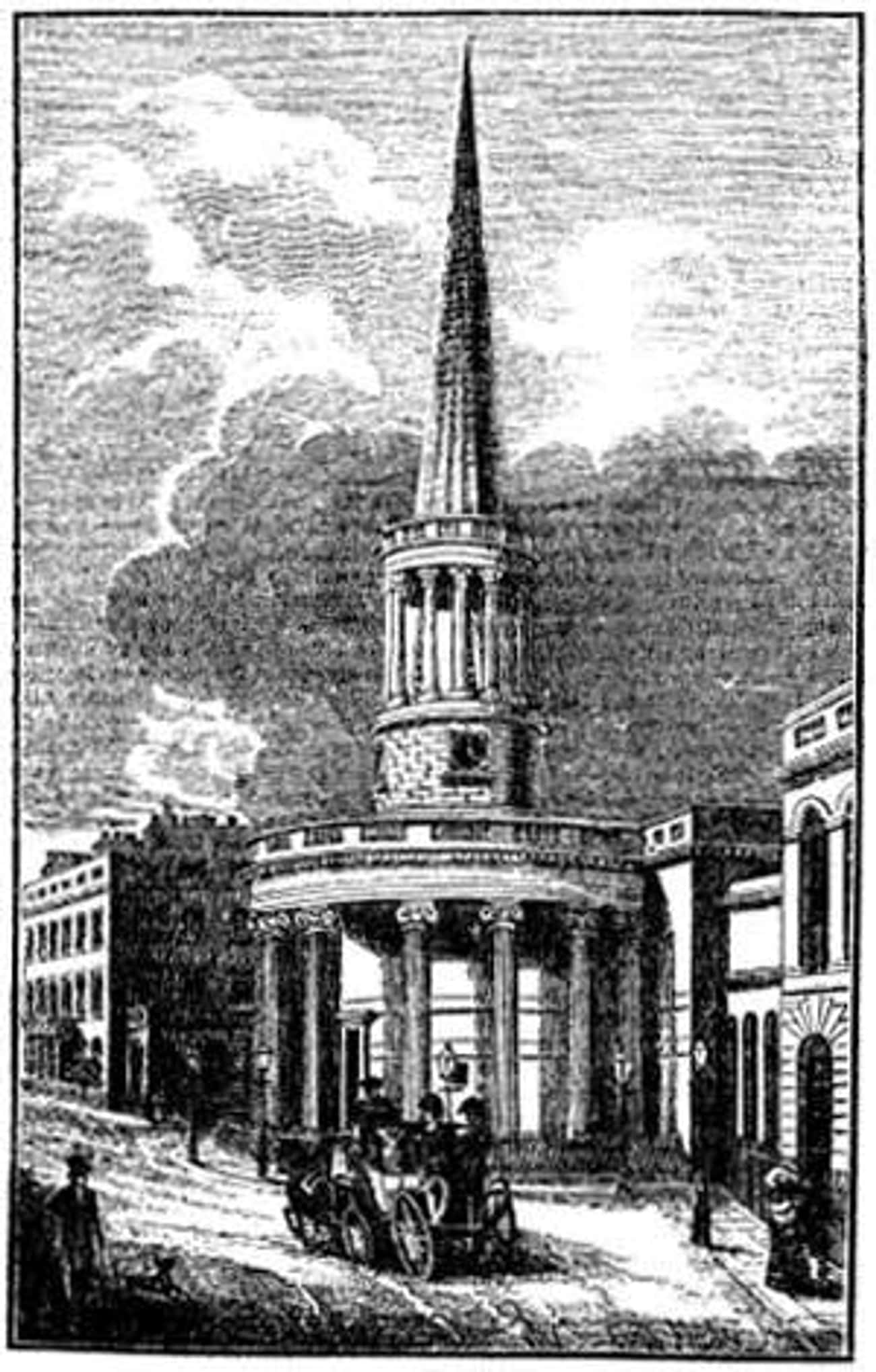 All Souls Church, Langham Plac is listed (or ranked) 1 on the list John Nash Architecture