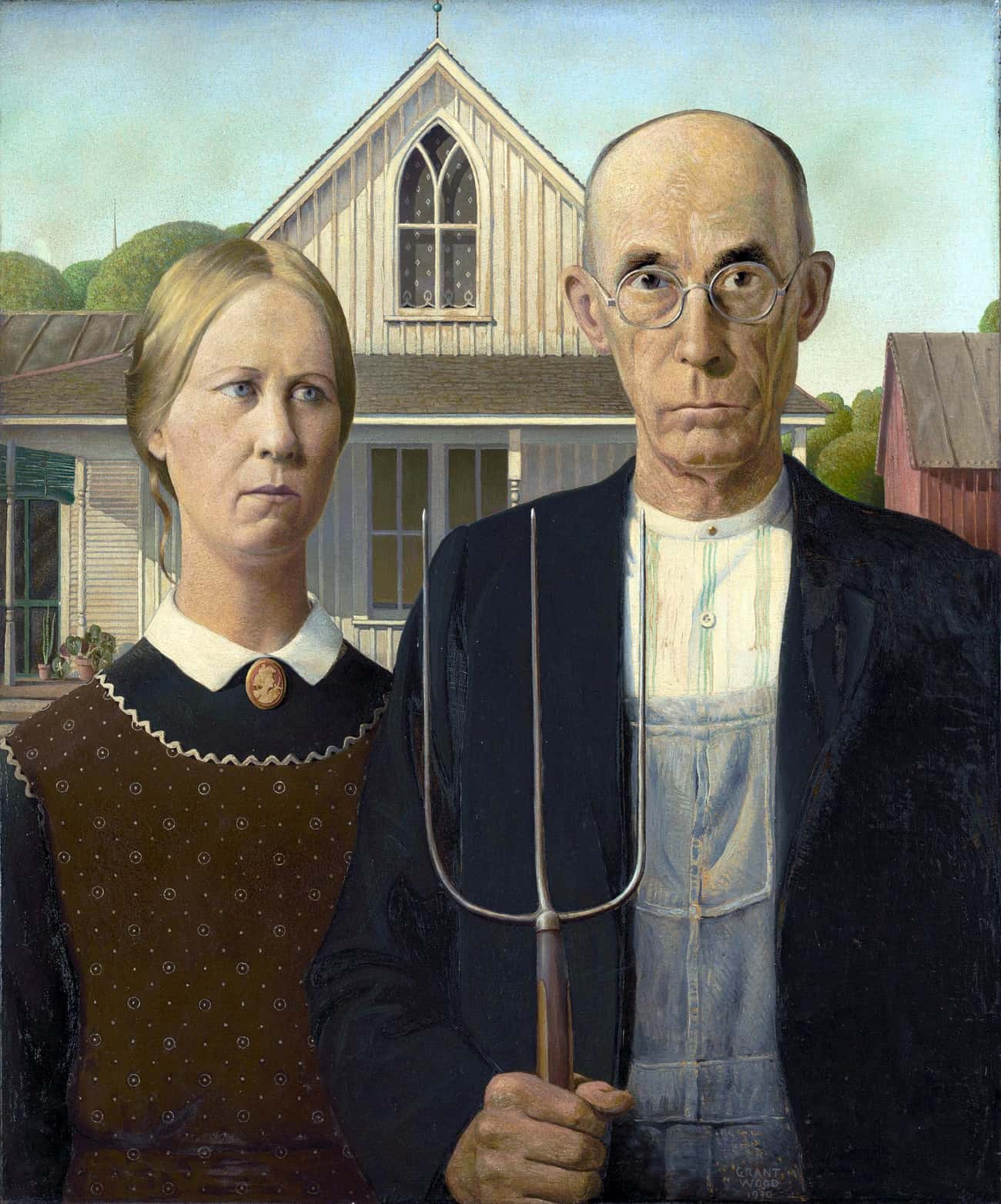 American Gothic is listed (or ranked) 1 on the list Famous Modernism Artwork