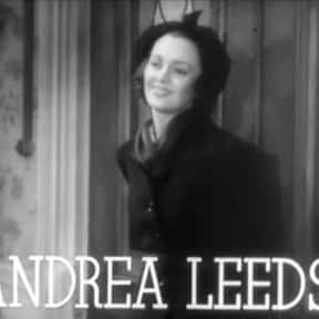 Andrea Leeds is listed (or ranked) 2 on the list Stage Door Cast List