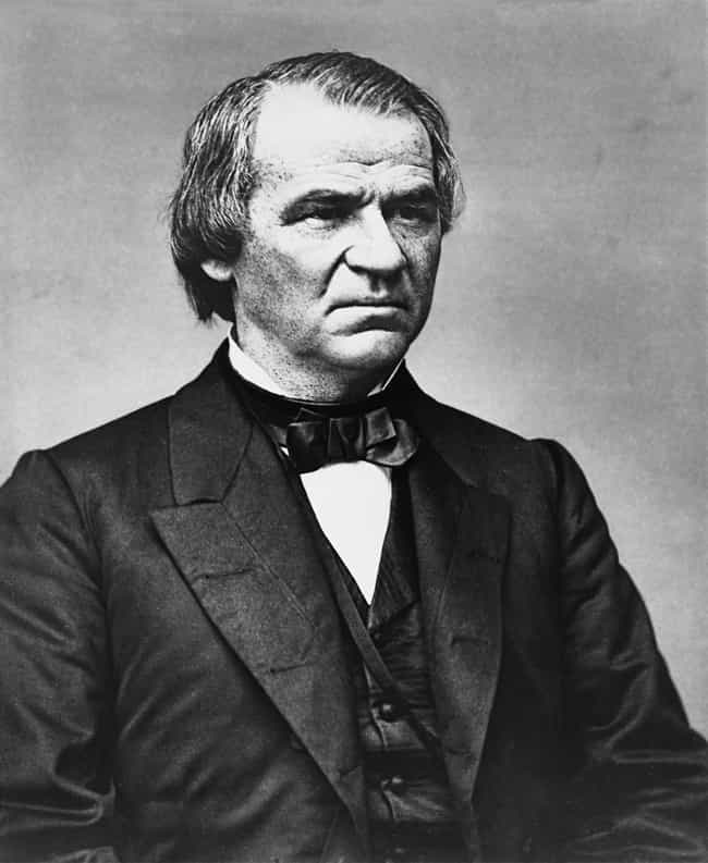 Andrew Johnson is listed (or ranked) 1 on the list The Worst U.S. Presidents
