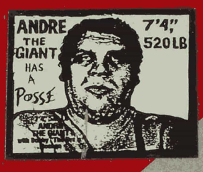 Andre the Giant Has a Po... is listed (or ranked) 4 on the list Mixed Media Art: Famous Works