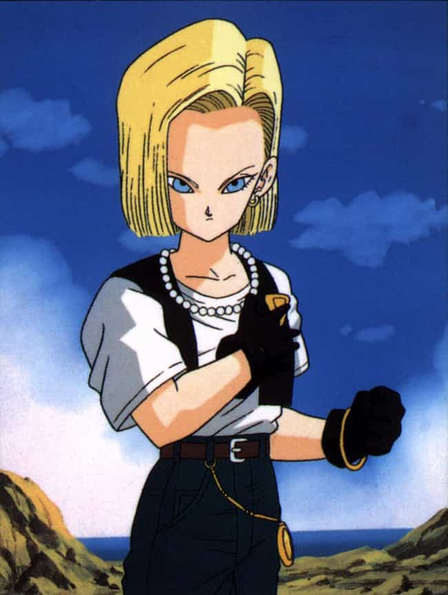Android 18 is listed (or ranked) 3 on the list The Best Female Villainess in Manga, Anime, and Games