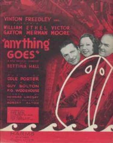 Anything Goes is listed (or ranked) 1 on the list Cole Porter Plays List