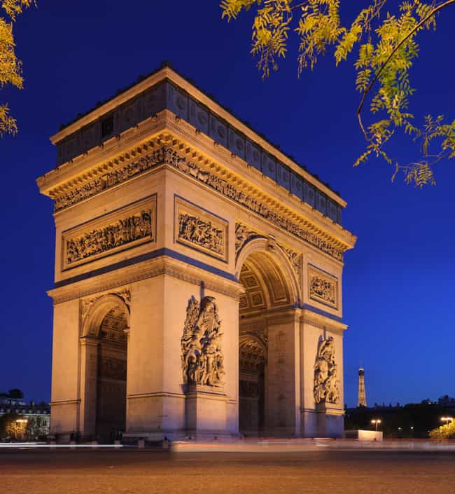 Arc de Triomphe is listed (or ranked) 4 on the list List of Famous Paris Buildings & Structures