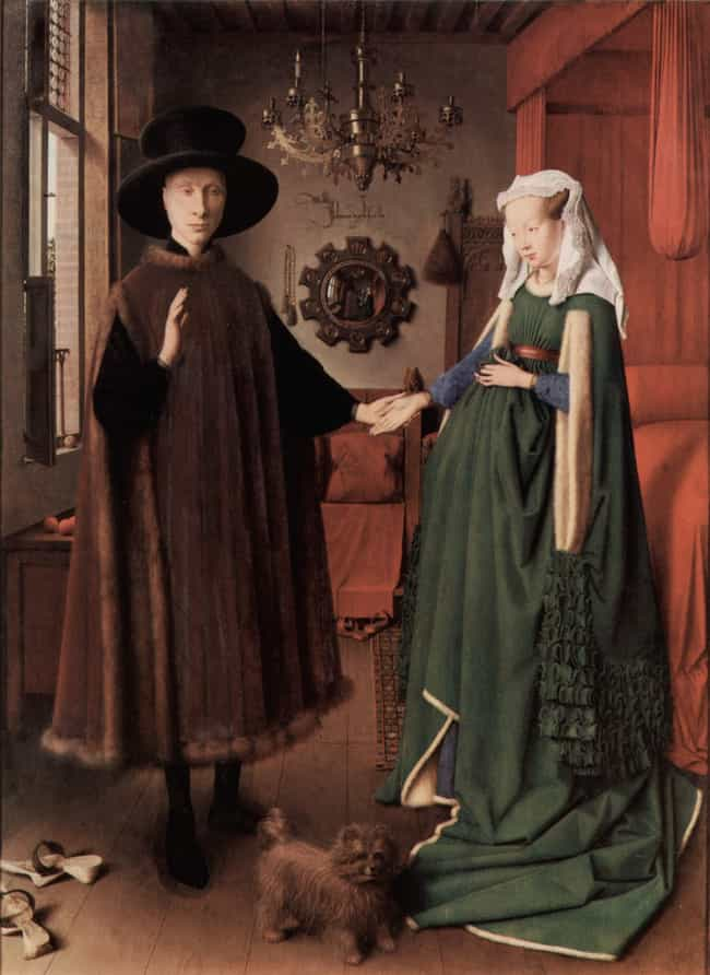 Arnolfini Portrait is listed (or ranked) 2 on the list Famous Early renaissance Paintings