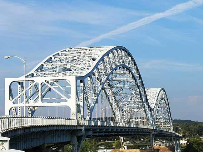 Arrigoni Bridge is listed (or ranked) 3 on the list Bridges in Connecticut