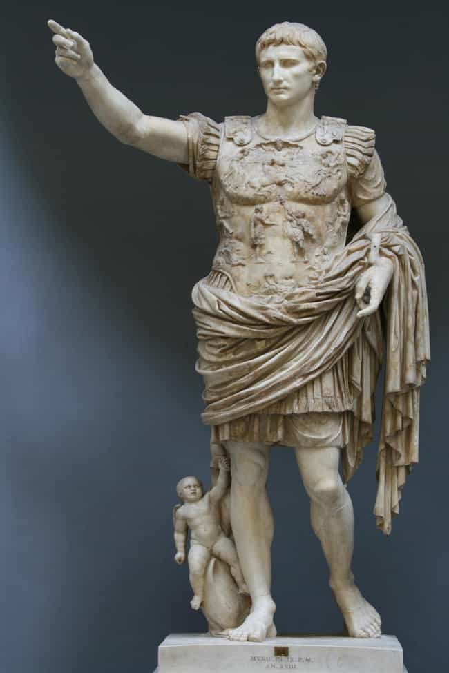 Augustus is listed (or ranked) 2 on the list List of Famous Roman Emperors